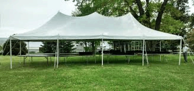 20 x 40 Pole Tent with set up