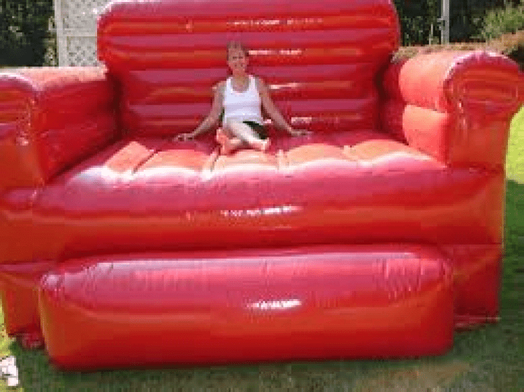 Inflatable Red Chair For Pictures