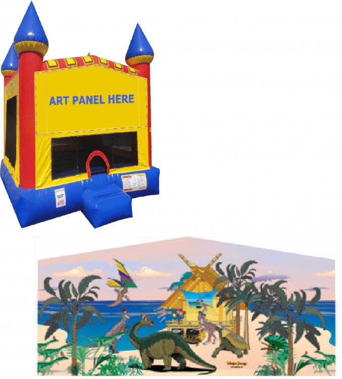 Dinosaur Castle Bounce NEW