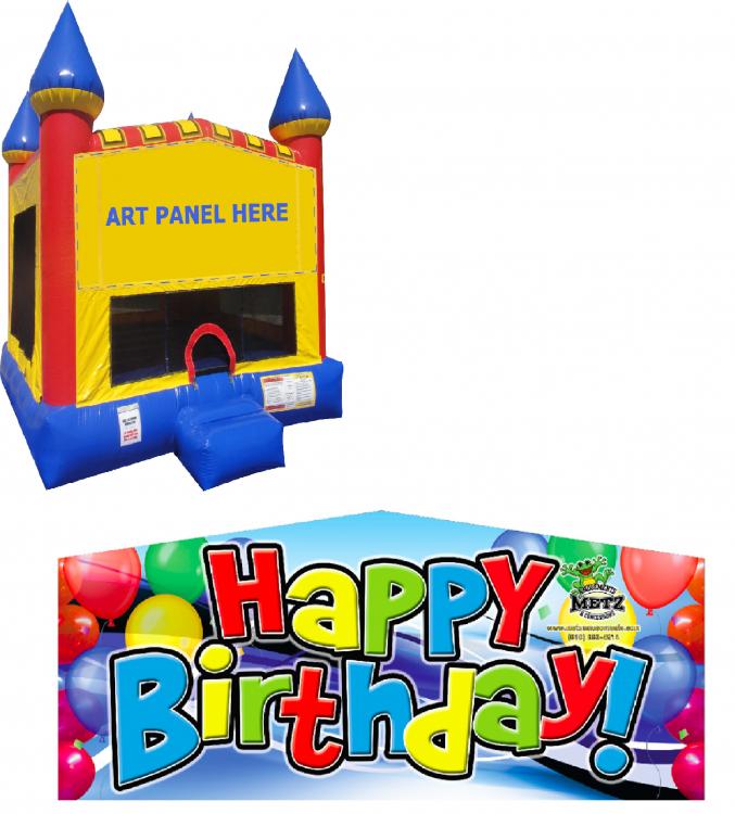 Happy Birthday Castle Bounce NEW