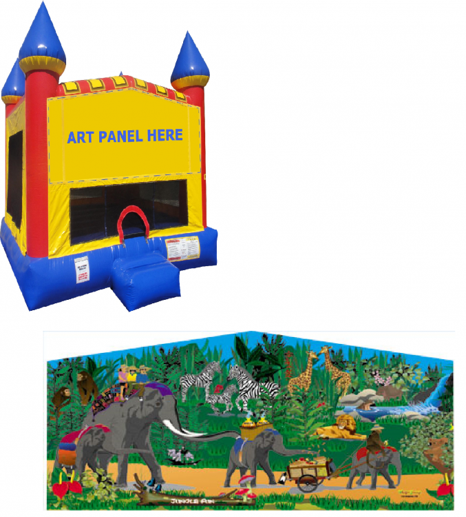 Jungle Castle Bounce NEW
