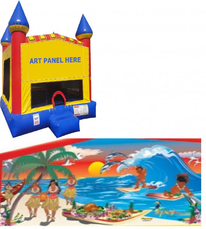 Tropical Paradise Castle Bounce NEW