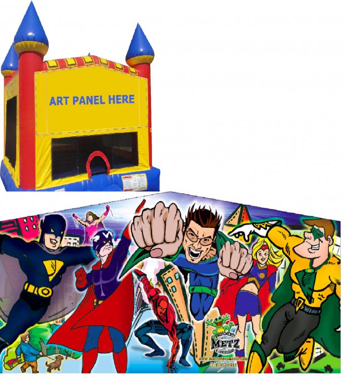 Superhero Castle Bounce